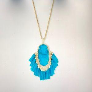 Kendra Scott Betsy Pendant Necklace Aqua Howlite